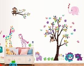 Naklejka na ścianę ZOO, Małpki XXL WS-0089