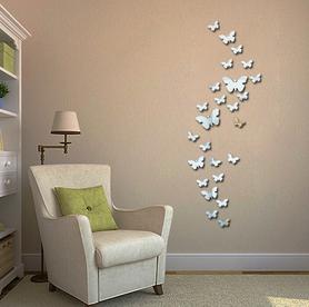 Naklejki na ścianę Lustrzane Motyle 3D
