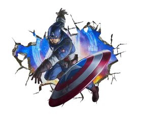 Naklejka na ścianę Avengers Kapitan Ameryka WS-0258