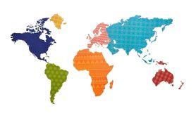 Naklejka na ścianę Mapa Świata WS-0260