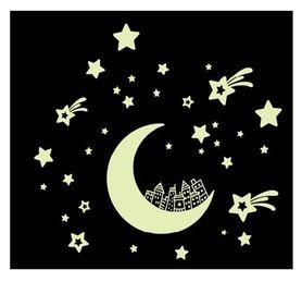 Naklejka na ścianę fluorescencyjne Niebo Księżyc WS-0229