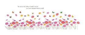 Naklejka na ścianę Kwiaty Motyle WS-0220