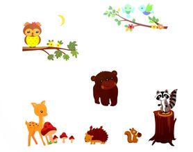 Naklejka na ścianę Zwierzęta WS-0065