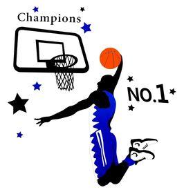 Naklejka na ścianę Koszykarz WS-0082