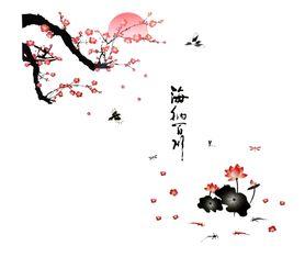 Naklejka na ścianę Kwiat Wiśni WS-0004