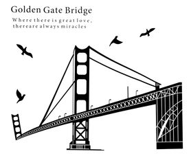 Naklejka na ścianę Golden Gate Bridge WS-0099