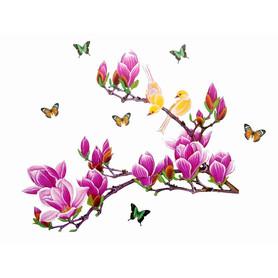 Naklejka na ścianę Gałąź, Ptaki Magnolia WS-0006