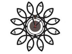 Naklejany zegar ścienny KWIAT