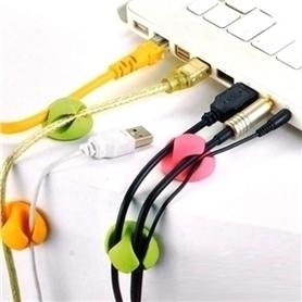 Podwójny organizer kabli Cable Drop 6 szt. 7 kolorów