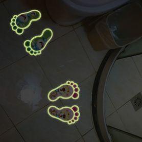 Naklejka na podłogę fluorescencyjne stópki WS-0126