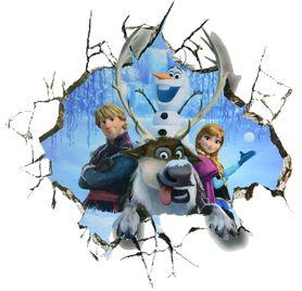 Naklejki na ścianę Kraina Lodu Frozen Elsa Olaf WS-0130