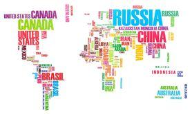 Naklejka na ściane Mapa świata WS-0192