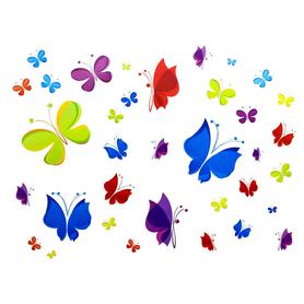 Naklejki na ścianę Kolorowe Motyle WS-0208