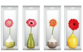 Naklejki na ścianę Kwiaty 3D WS-0187