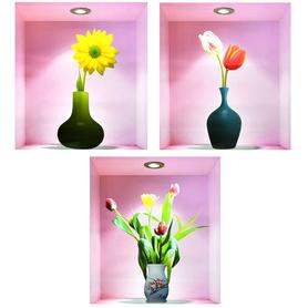 Naklejki na ścianę Kwiaty 3D WS-0188