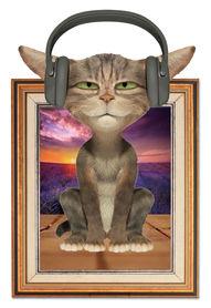 Naklejka na ścianę Kot Obraz WS-0242