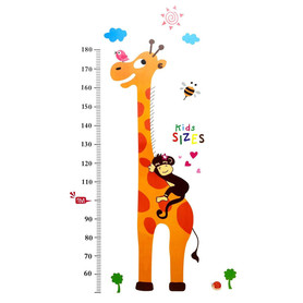Naklejka / Miarka wzrostu Żyrafa WS-0021