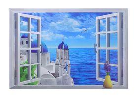 Naklejka na ścianę okno 3D WS-0226