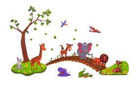 Naklejka na ścianę Zwierzęta Słonik WS-0217