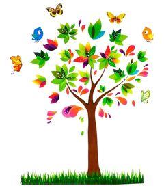 Naklejka na ścianę Kolorowe drzewo WS-0025