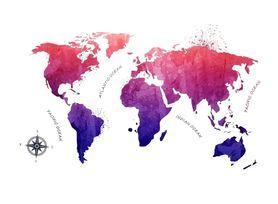 Naklejka na ścianę Mapa Świata WS-0288