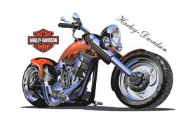 Naklejka na ścianę Harley-Davidson WS-0289