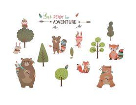 Naklejki na ścianę Zwierzęta Niedźwiadek WS-0303
