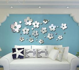 Naklejki na ścianę Lustrzane kwiaty MS-0005