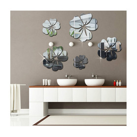 Naklejki na ścianę Lustrzane Kwiaty MS-0006