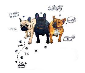 Naklejka na ścianę Pies Buldog Francuski WS-0313