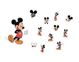 Naklejki na ścianę Myszka Mickey WS-0324
