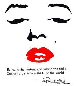 Naklejka na ściane Marilyn Monroe WS-0032