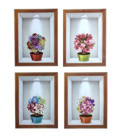 Naklejki na ścianę Kwiaty 3D WS-0352