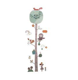 Naklejka na ścianę Miarka Wzrostu Drzewo WS-0354