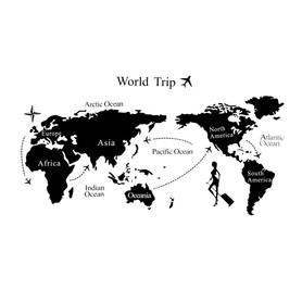 Naklejka na ścianę Mapa świata WS-0045