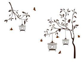 Naklejka na ścianę Drzewo, Klatki WS-0062