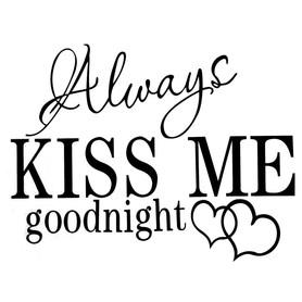 Naklejka na ścianę KISS ME WS-0081